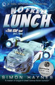 Hal Spacejock 04 No Free Lunch cover art (c) Simon Haynes