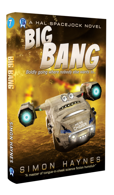 Hal Spacejock 07 Big Bang cover art (c) Bowman Press